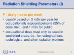 radiation shielding parameters i