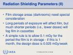 radiation shielding parameters ii
