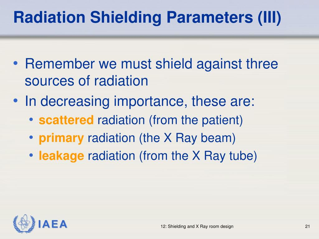 Radiation Shielding Parameters (III)