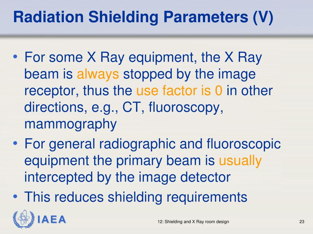 Radiation Shielding Parameters (V)