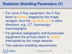 radiation shielding parameters v