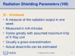 radiation shielding parameters viii