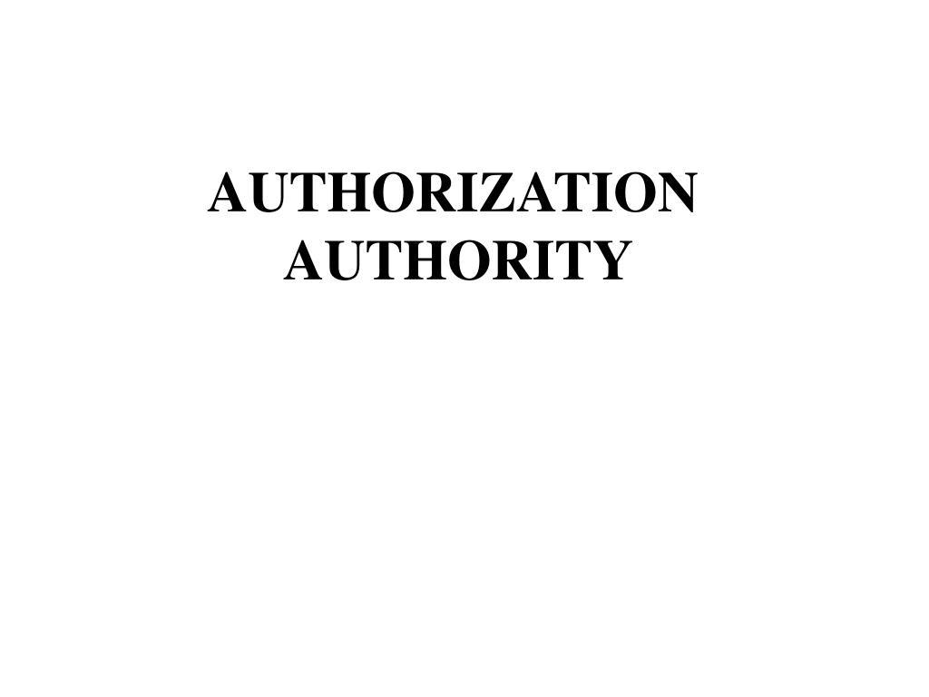 authorization authority l.