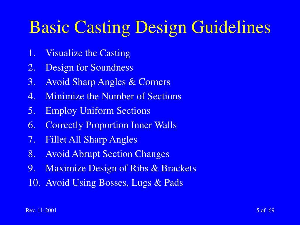Basic Casting Design Guidelines