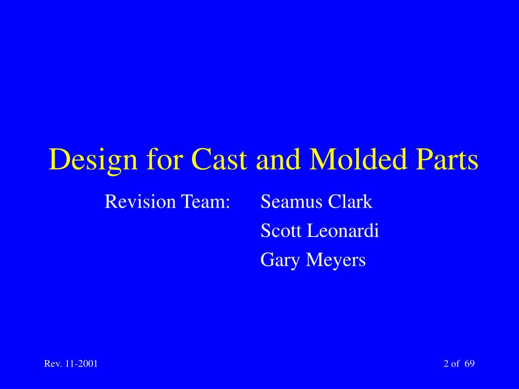 Design for Cast and Molded Parts