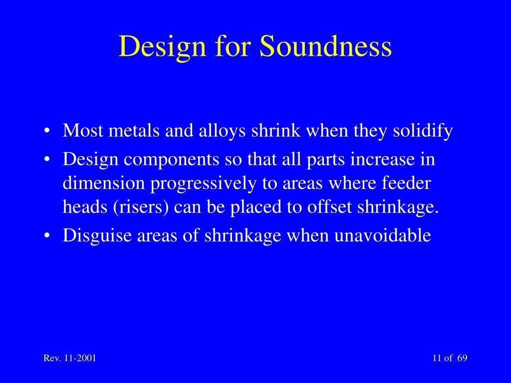 Design for Soundness