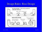 design rules boss design