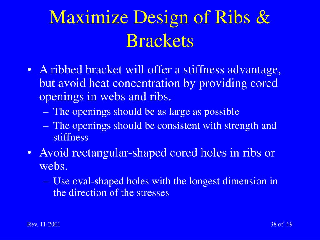 Maximize Design of Ribs & Brackets