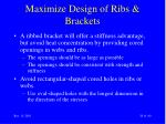 maximize design of ribs brackets38