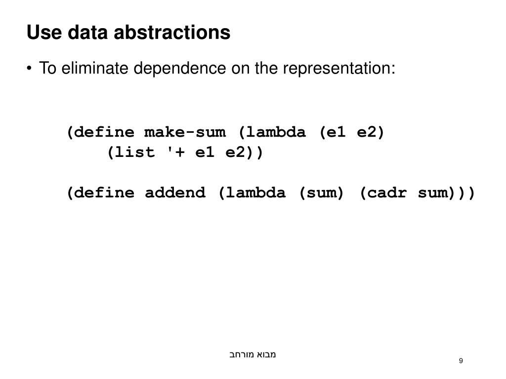 Use data abstractions