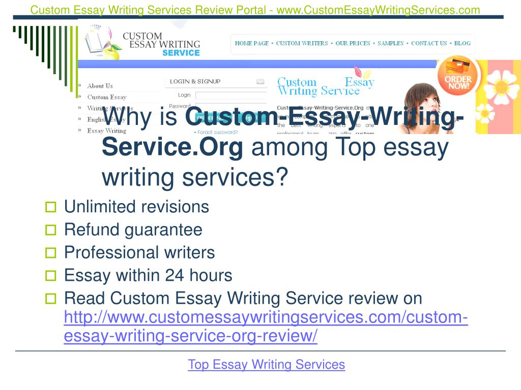Custom Essay Writing Services Review Portal - www.CustomEssayWritingServices.com