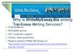 why is writemyessay biz among top essay writing services