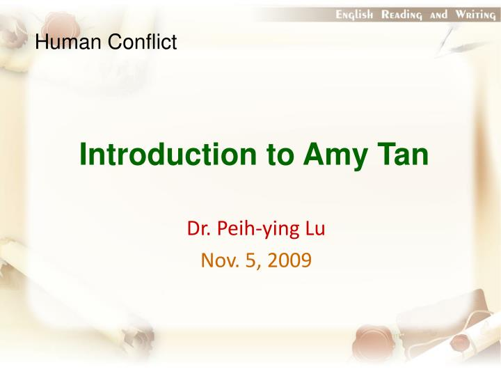 an analysis of a pair of tickets by amy tan A pair of tickets essays: character analysis on jing-mei in two kinds amy tan's a pair of tickets is about jing mei.