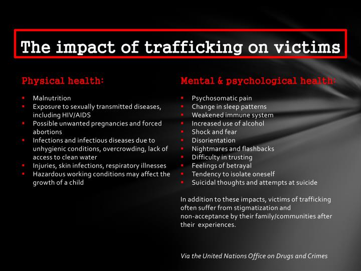 The Impact Of Trafficking On Victims N