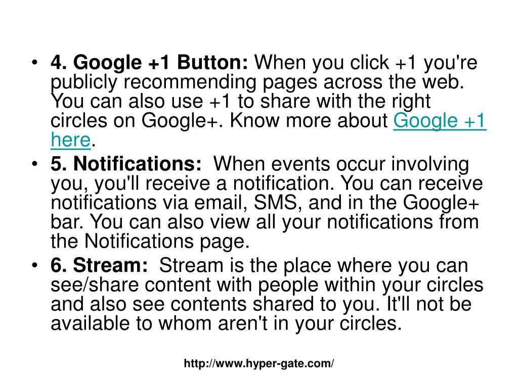 4. Google +1 Button:
