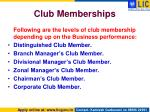 club memberships1