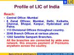 profile of lic of india