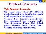 profile of lic of india1