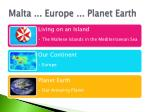 malta europe planet earth