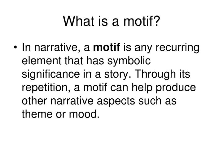 What is a motif