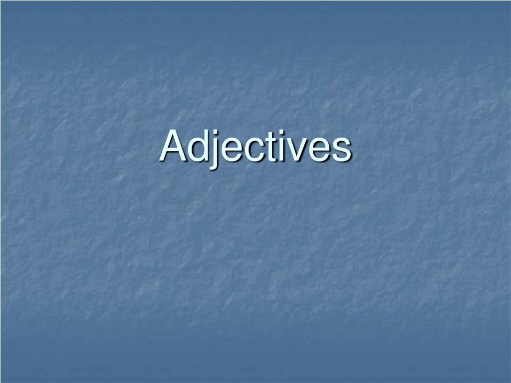 adjectives l.