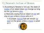 c newton s 1st law of motion
