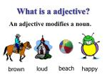 what is a adjective