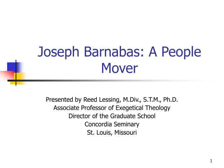 joseph barnabas a people mover n.