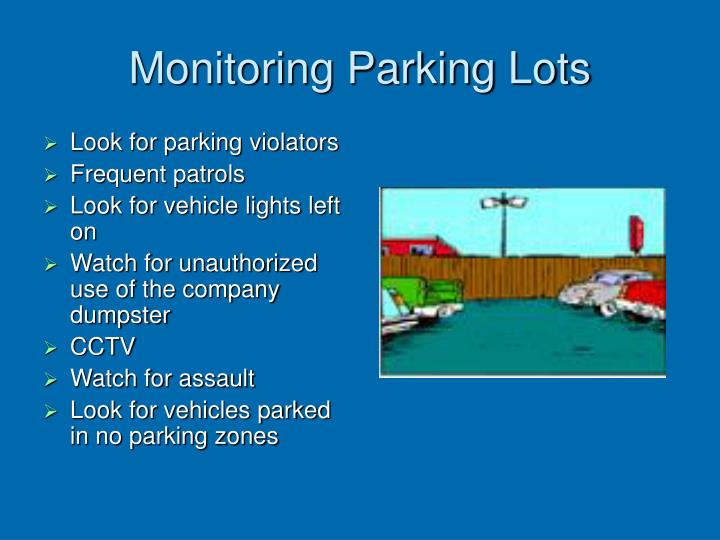 Monitoring Parking Lots