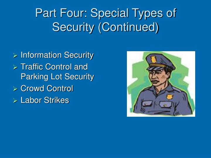 Part four special types of security continued