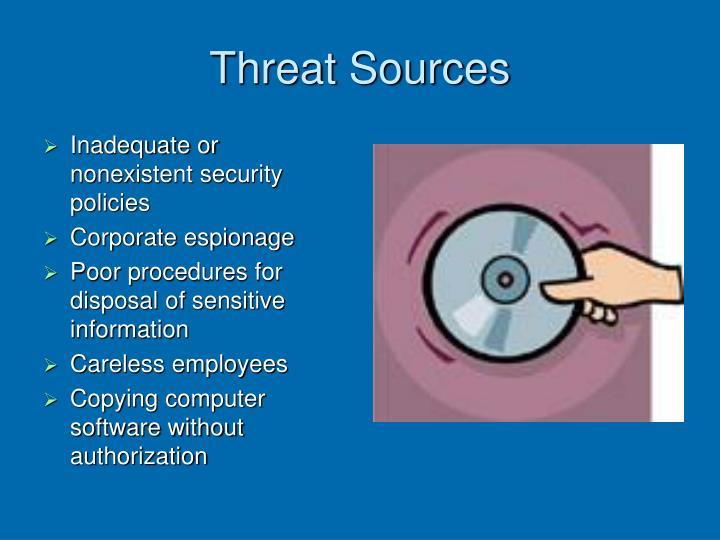 Threat Sources