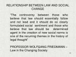 relationship between law and social change