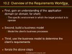 10 2 overview of the requirements workflow