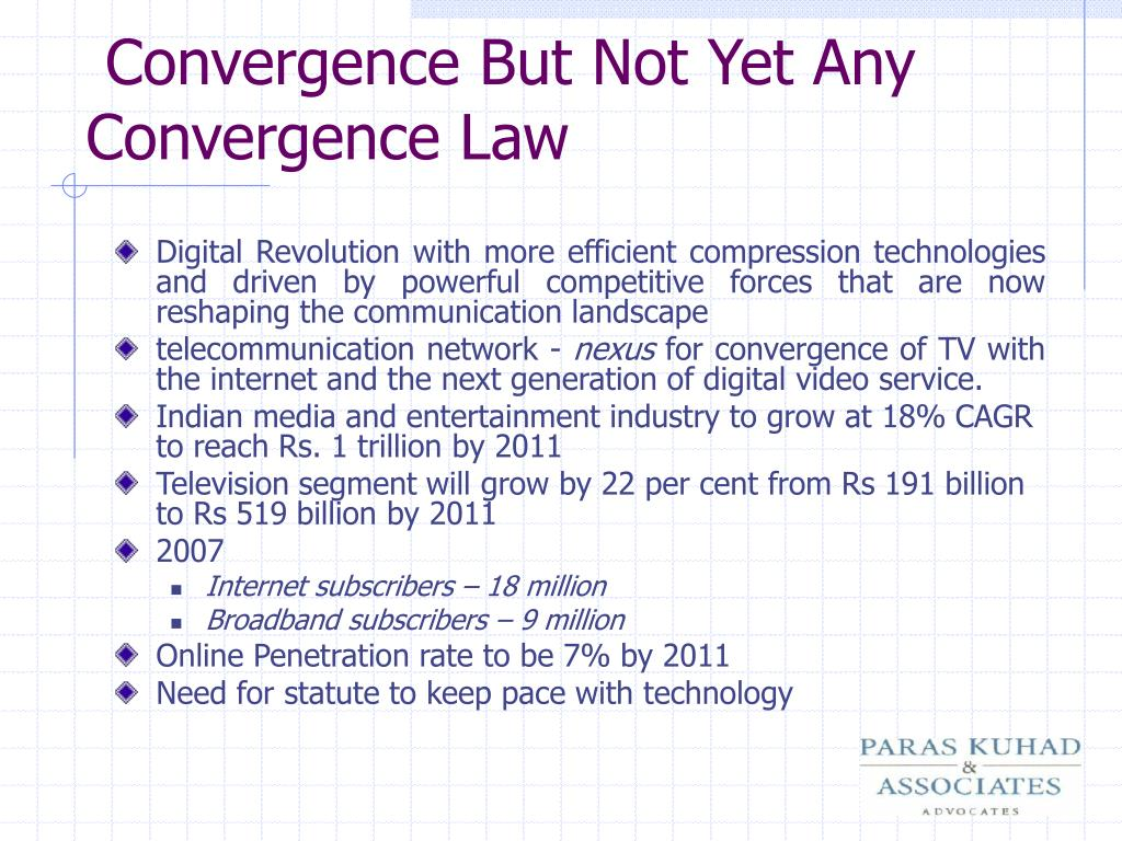 Convergence But Not Yet Any Convergence Law