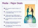 media major deals