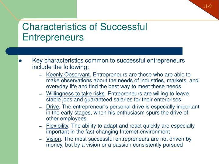 Characteristics of Successful