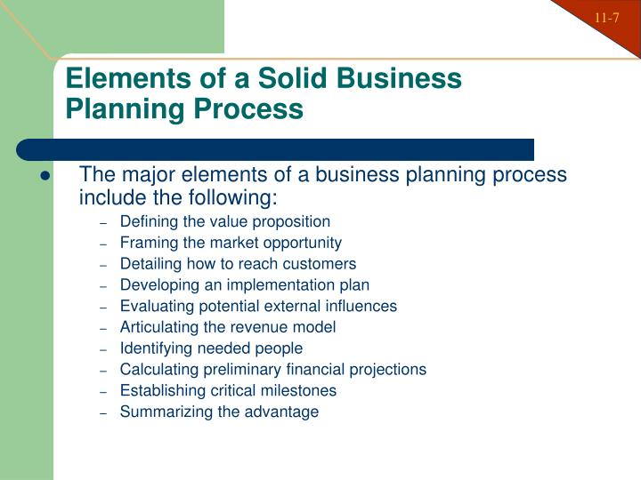 Elements of a Solid Business