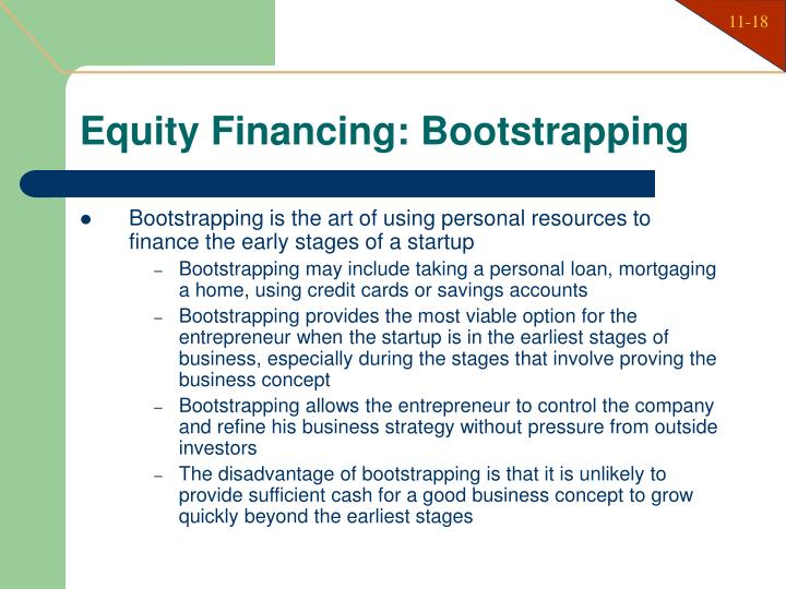 Equity Financing: Bootstrapping