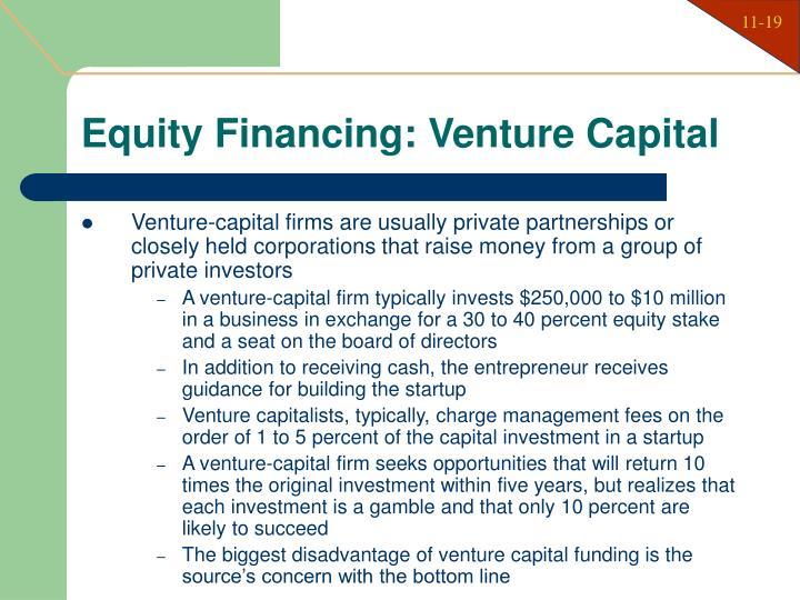Equity Financing: Venture Capital