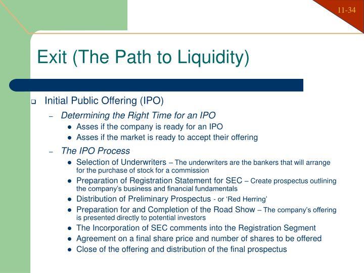 Exit (The Path to Liquidity)