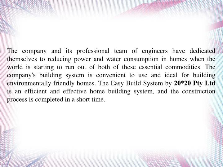 The company and its professional team of engineers have dedicated themselves to reducing power and w...