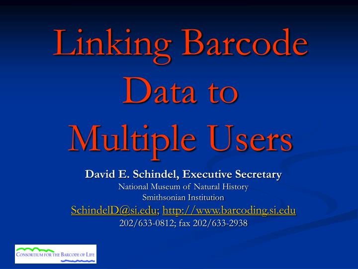 linking barcode data to multiple users n.