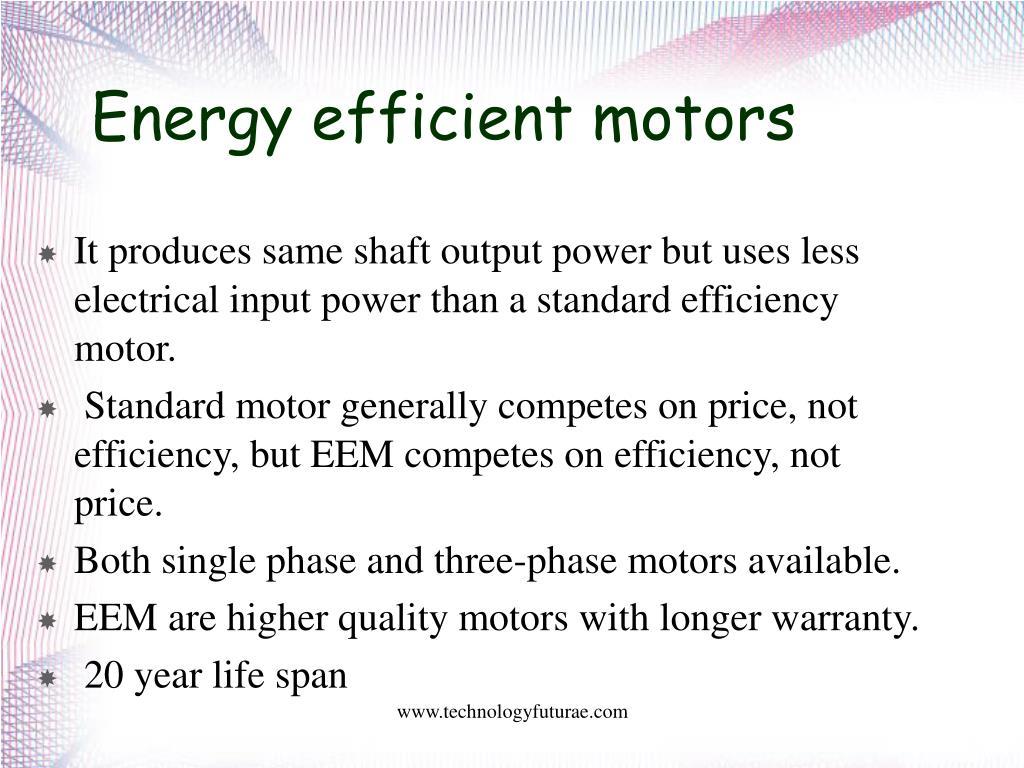 PPT - ENERGY EFFICIENT INDUCTION MOTORS PowerPoint