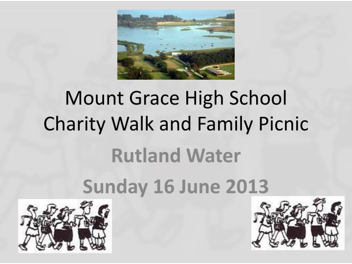 mount grace high school charity walk and family picnic n.