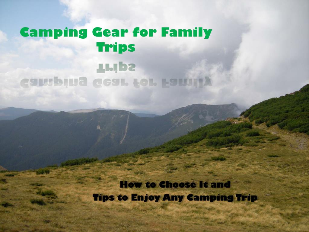 camping gear for family trips