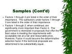 samples cont d