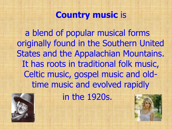 PPT - Country Music PowerPoint Presentation - ID:1463125