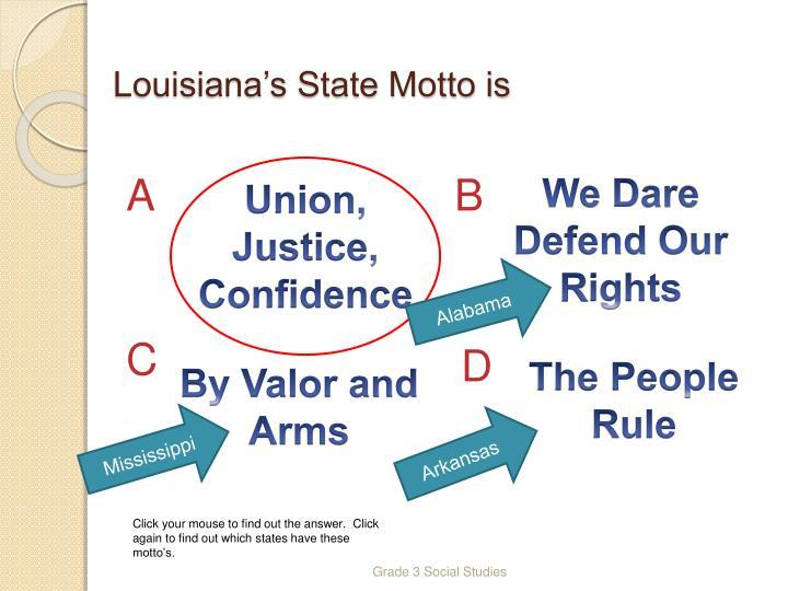 Louisiana's State Motto is