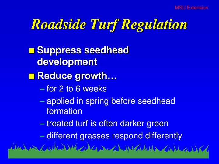 Roadside Turf Regulation