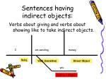 sentences having indirect objects16